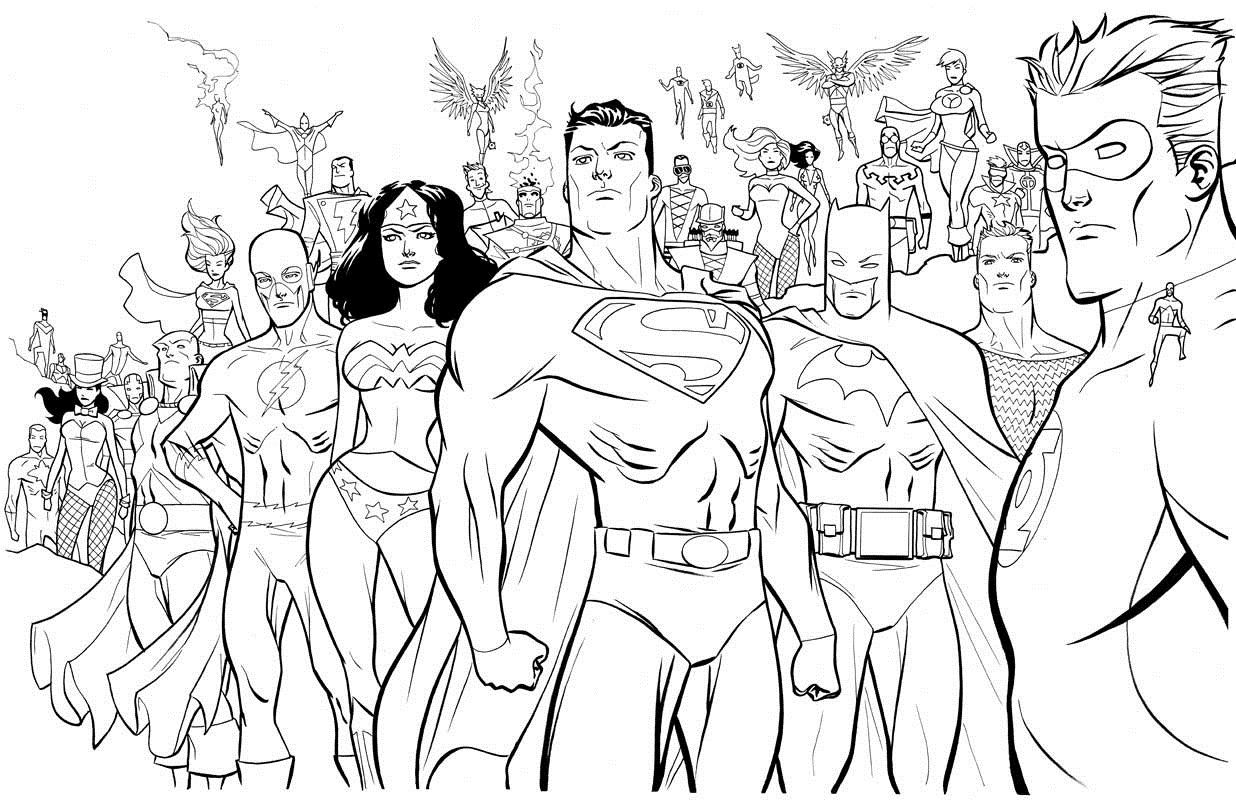 DC coloring page | coloring pages | Pinterest