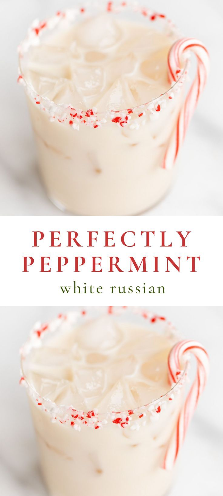 Perfectly Peppermint White Russian | Julie Blanner -   17 holiday Cocktails vodka ideas