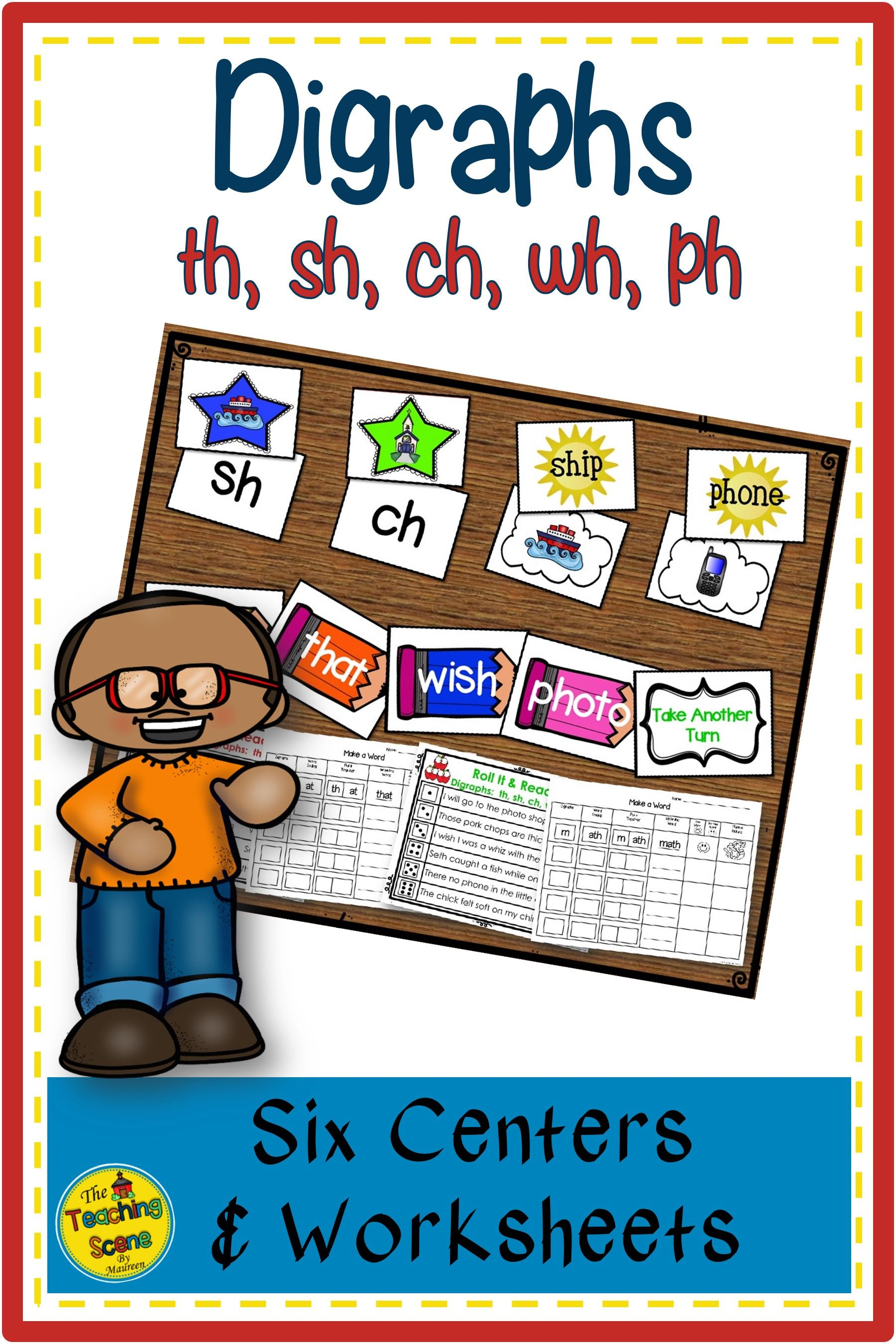 Digraphs Phonics Centers Th Sh Wh Ch Amp Ph Sounds