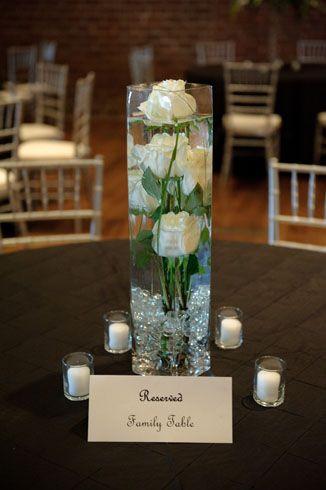 White Roses Submerged in Water Kiwi Fleur wedding
