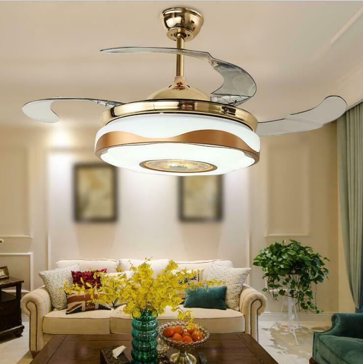 42 Smart Bluetooth Fan Ceiling Light Remote Music Player Fan Chandelier Lamp Ceiling Fans Ideas Ceiling Fans Without Lights Ceiling Lights Chandelier Fan