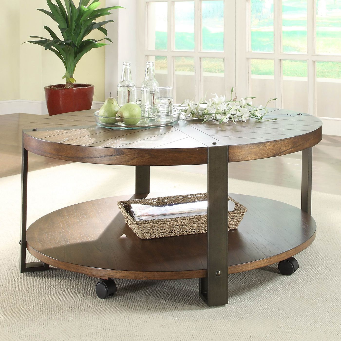 Homelegance 343801 northwood round cocktail table on