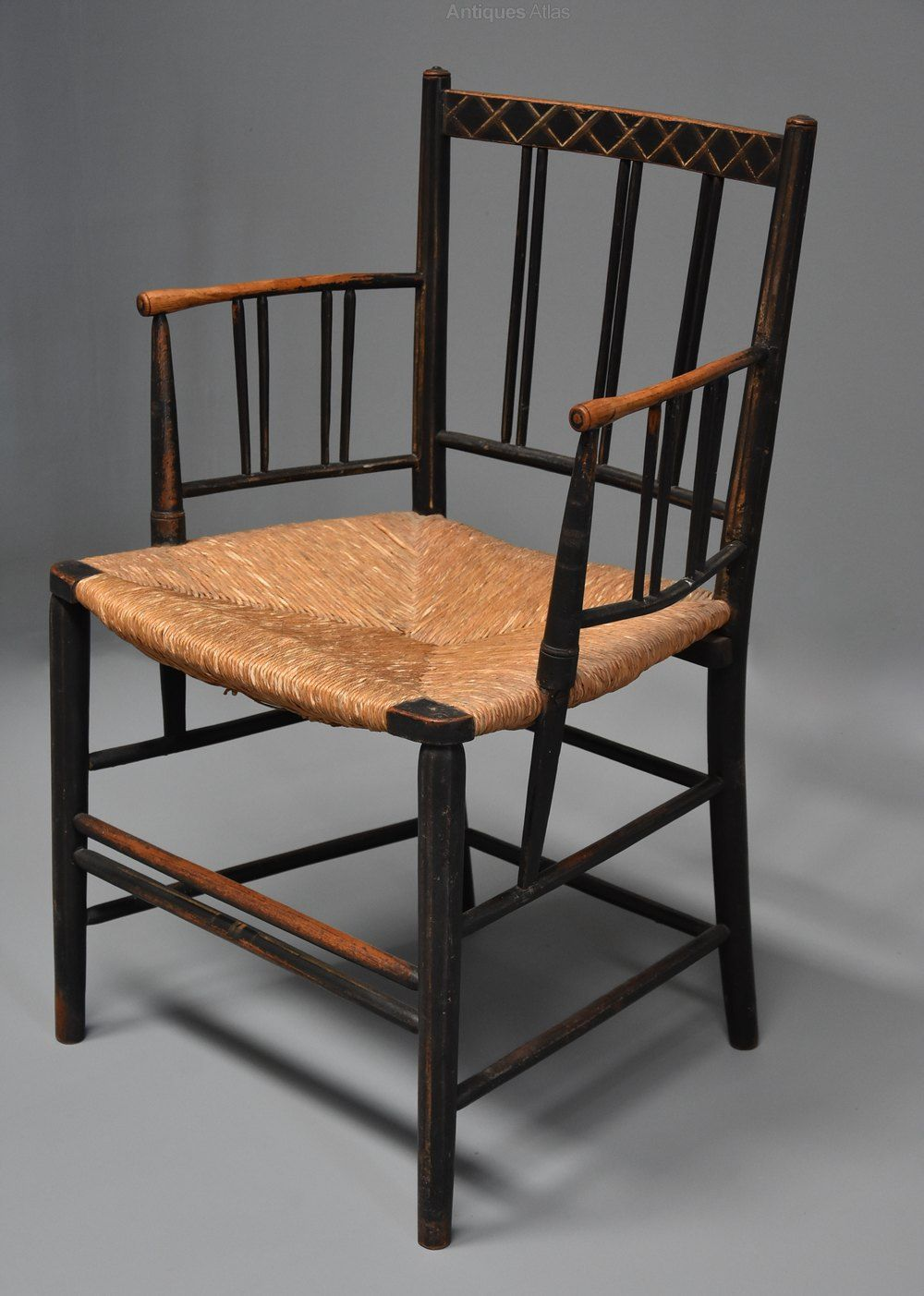 Late 19thc Rare Unusual Model Of A Sussex Chair Antiques Atlas In 2020 Chair Chair Design Antique Armchairs