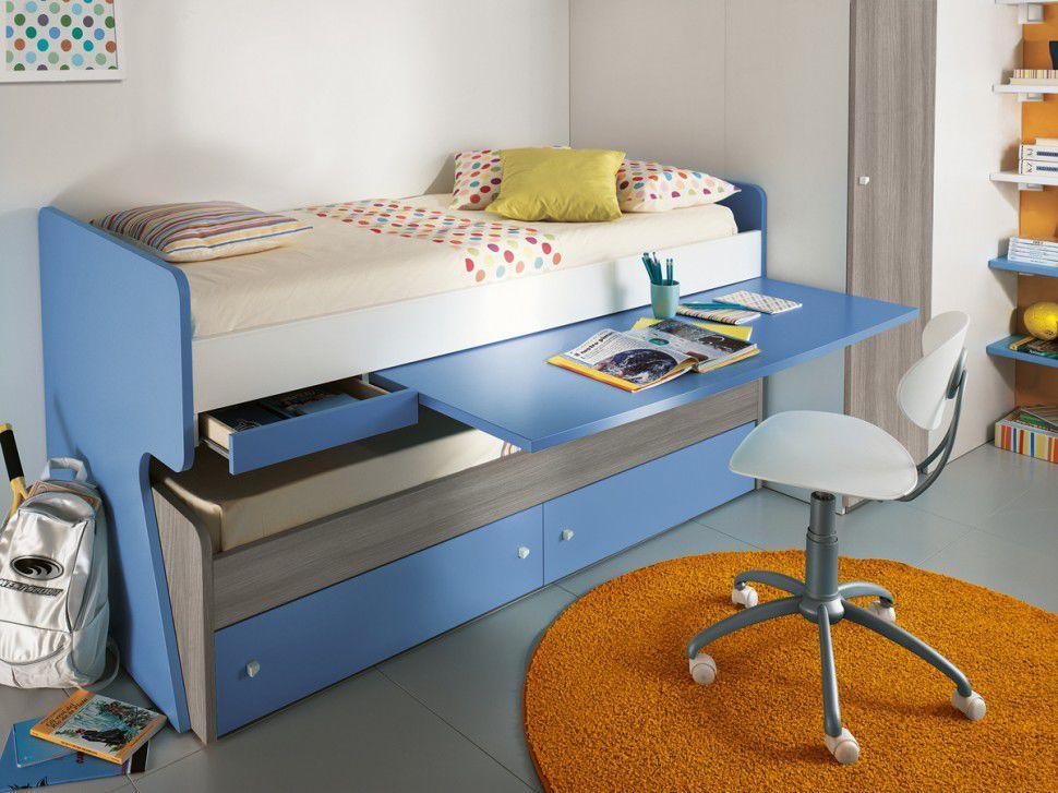 Cama nido escritorio camas nido pinterest camas for Cama puente con escritorio