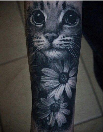 cat tattoo | my body is my story | tatouage, tatouage chat, tatouage