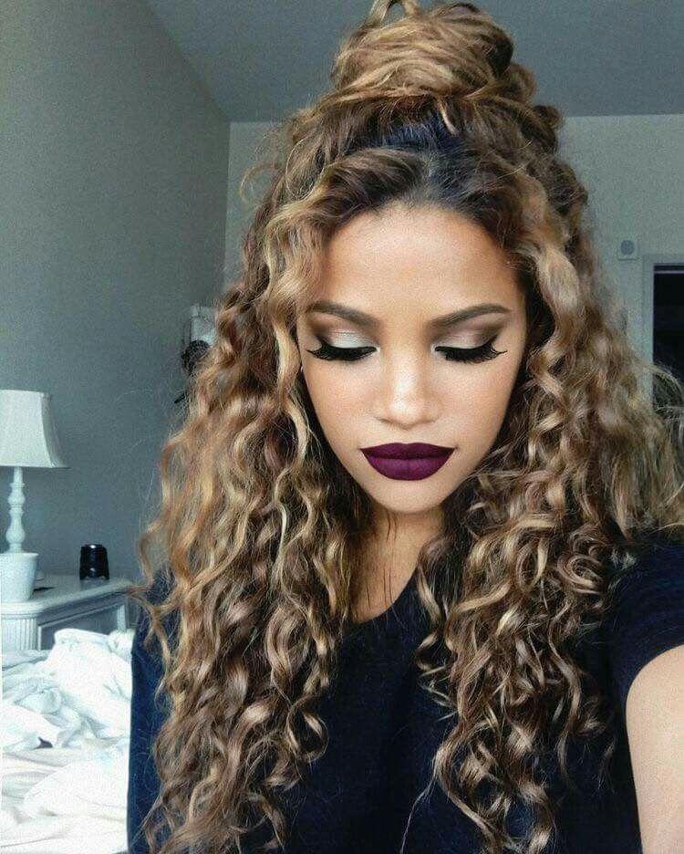 Top Knot Curly Hair Hot Hair Styles Hair Hacks Hair Styles