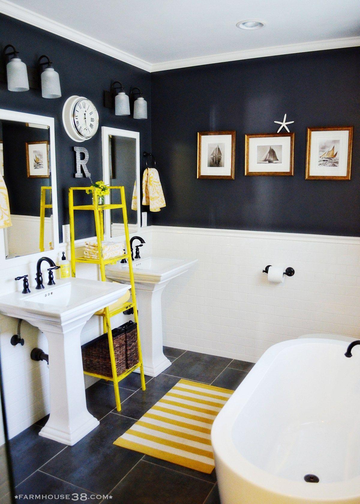 the almost final master bathroom semi makeover deco salle de
