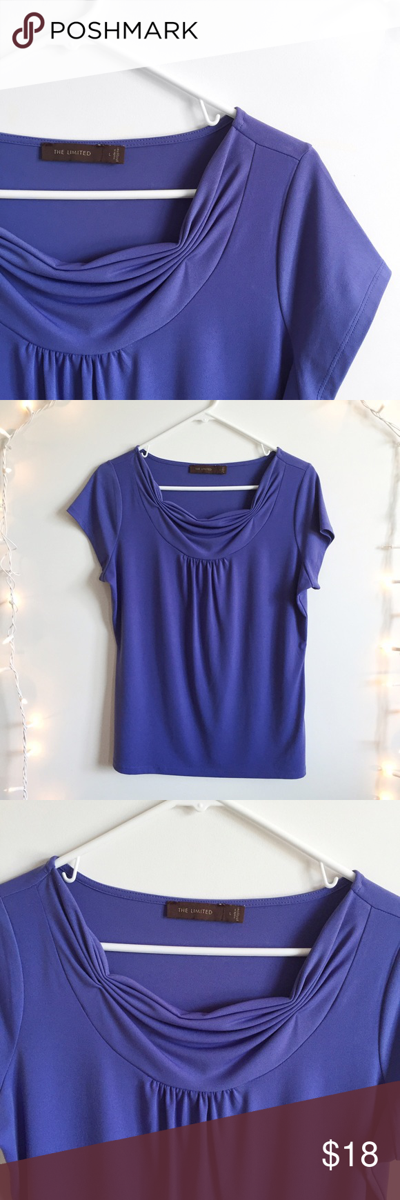 The Limited top Color: periwinkle/purple. In great condition. True to size. Polyester/Spandex. The Limited Tops Blouses