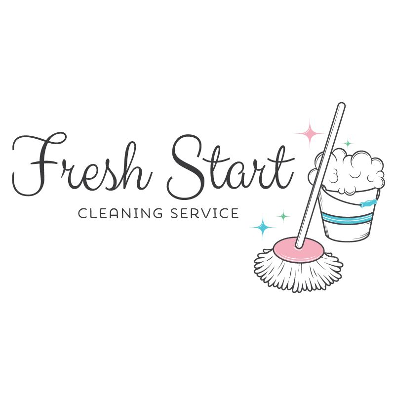Premade Logo  Cleaning Logo Design  Customized With Your