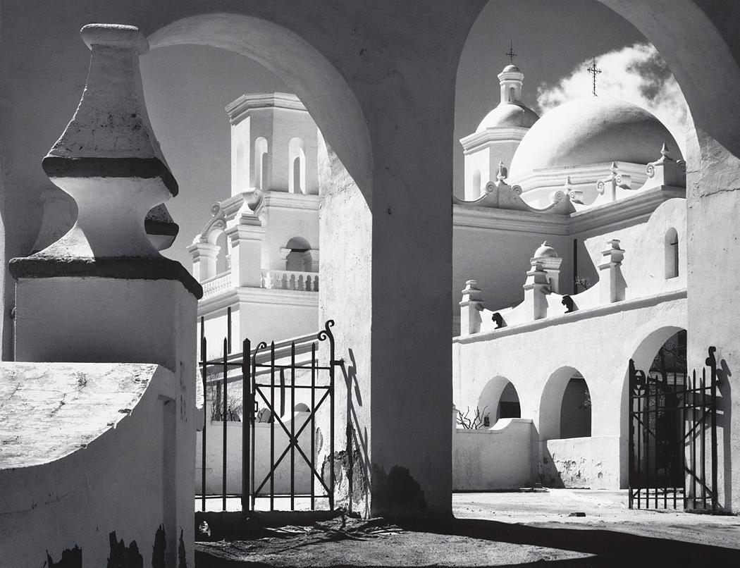 Ansel Adams, Arches, North Court, Mission San Xavier del Bac, Tucson ...