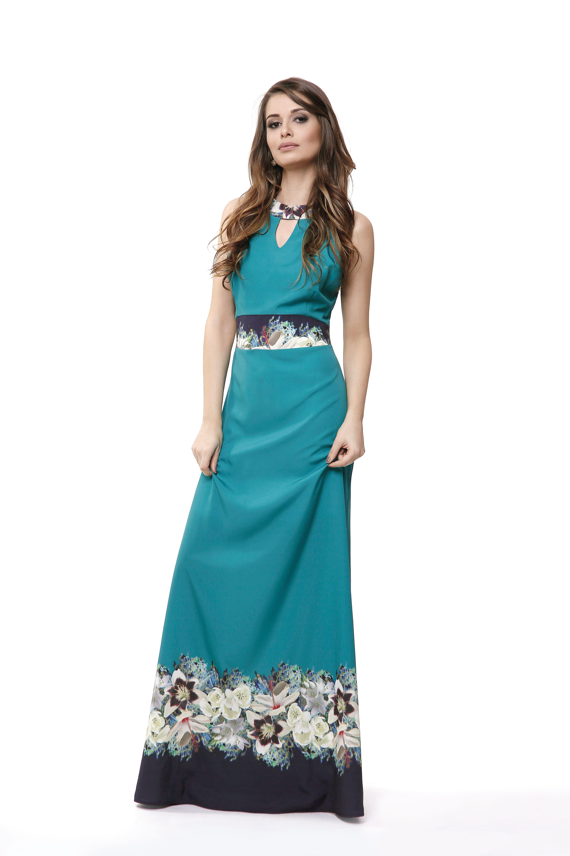 99f4828e2 Vestido longo   Estampa exclusiva   Primavera Verão 2019 #moda  #modafeminina #primaveraverão #