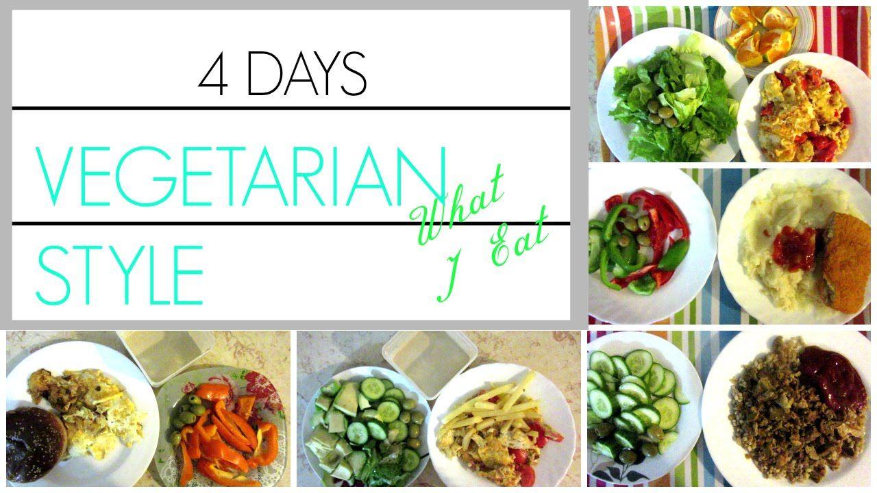 WHAT I EAT/4 DAYS /HEALTHY VEGETARIAN MENU #healthy #vegetarian ...