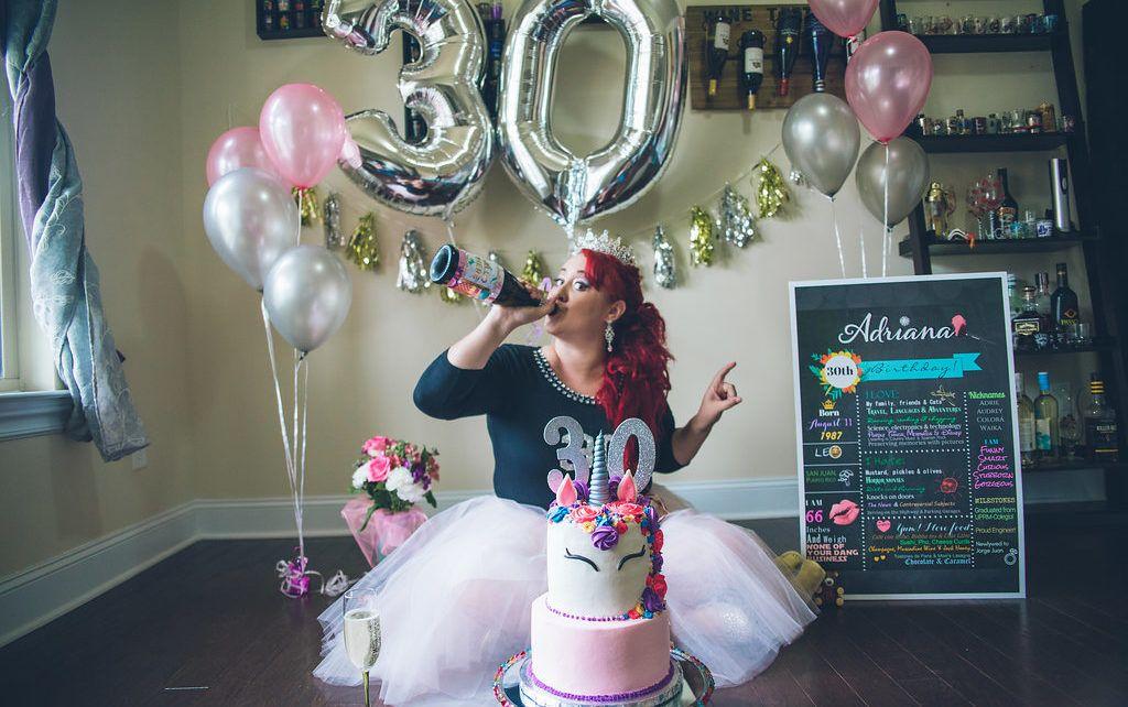 Unicorn 30 Smash Cake Atlanta Adult 30th Birthday