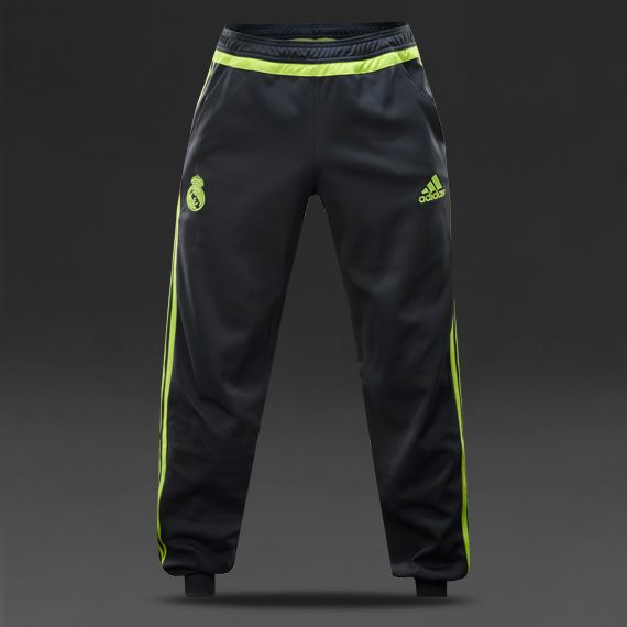 adidas Real Madrid 15 16 Sweat Pants - Deepest Space Solar Yellow ... 86ddde335b50e