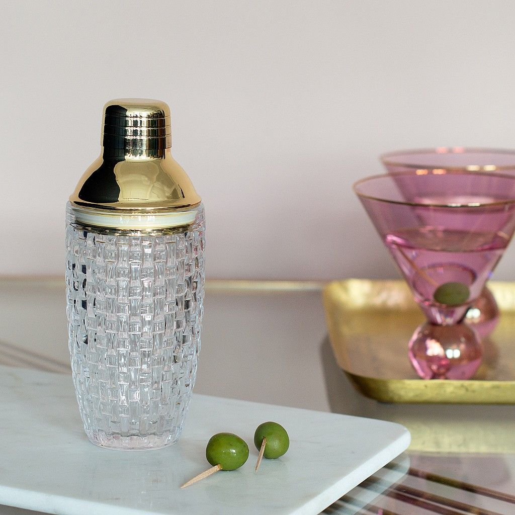 Gold And Glass Cocktail Shaker in 2019   Drinks Trolley