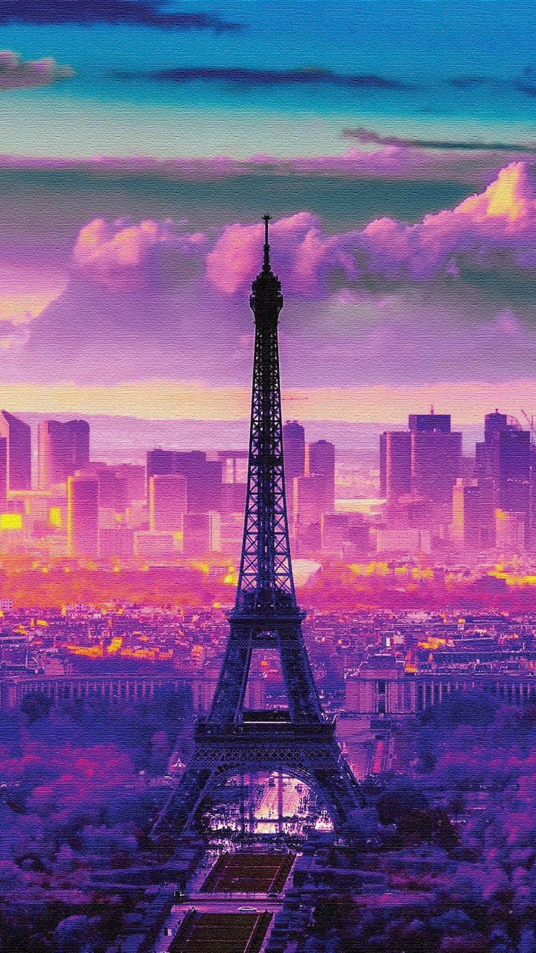 Naturelandscape Sunrise In Paris Iphone 6 Plus Wallpapers