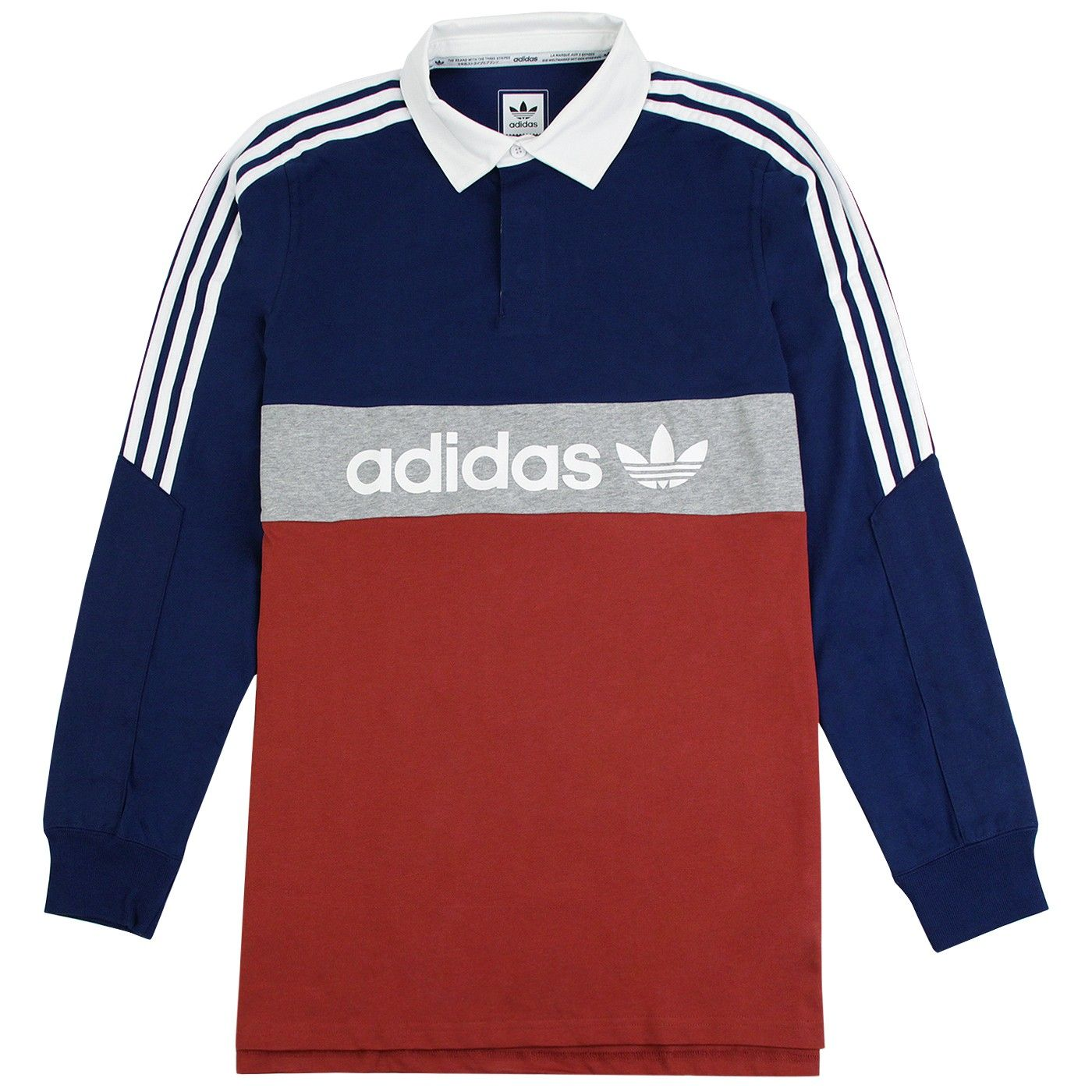 Red Shirt Polo Skateboarding Mystery In Adidas Rugby Nautical Aq1UIwwp0