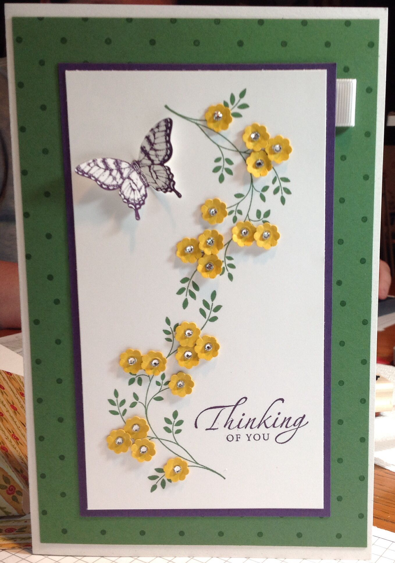 Oversized Thinking Of You Card For Co Worker Using Stampin Up