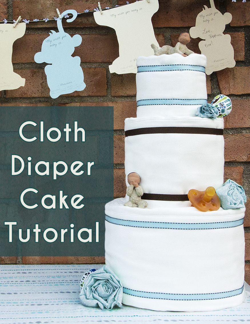 Cloth diaper cake tutorial with video cloth diaper cakes need a centerpiece and gift to wow the expectant mom and guests check out amandas cloth diaper cake tutorial baditri Gallery