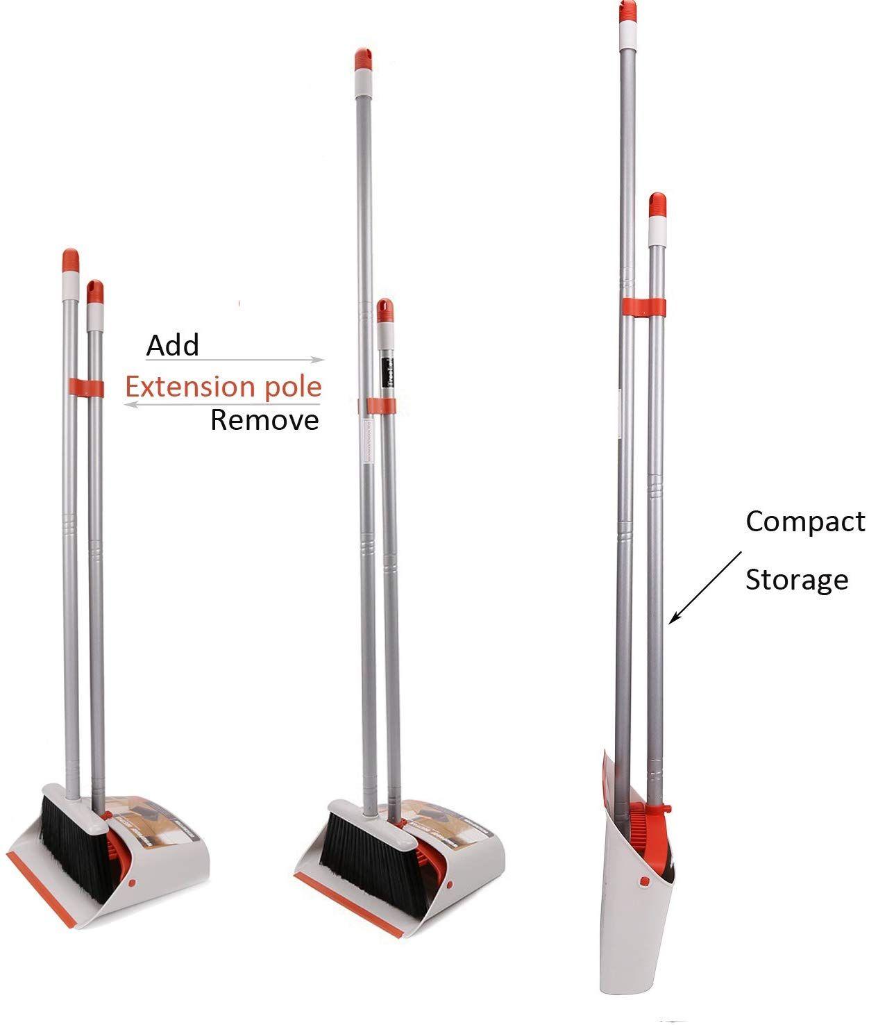 "Long Handled Broom and Dustpan 52""long handle broom"