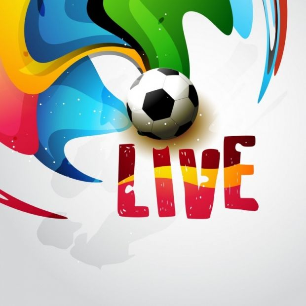 Football on artistic background design | ClipArt ~ Sport, Idrott ...