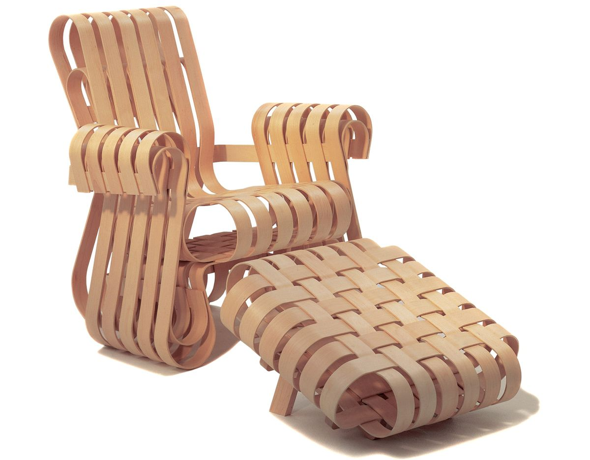 Frank Gehry Chaise Carton gehry power play lounge chair   frank gehry, chair, ottoman