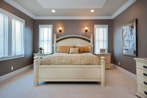 20 Awesome Bedroom Designs With Painted Ceilings Master Bedroom Colors Romantic Bedroom Colors Bedroom Colors