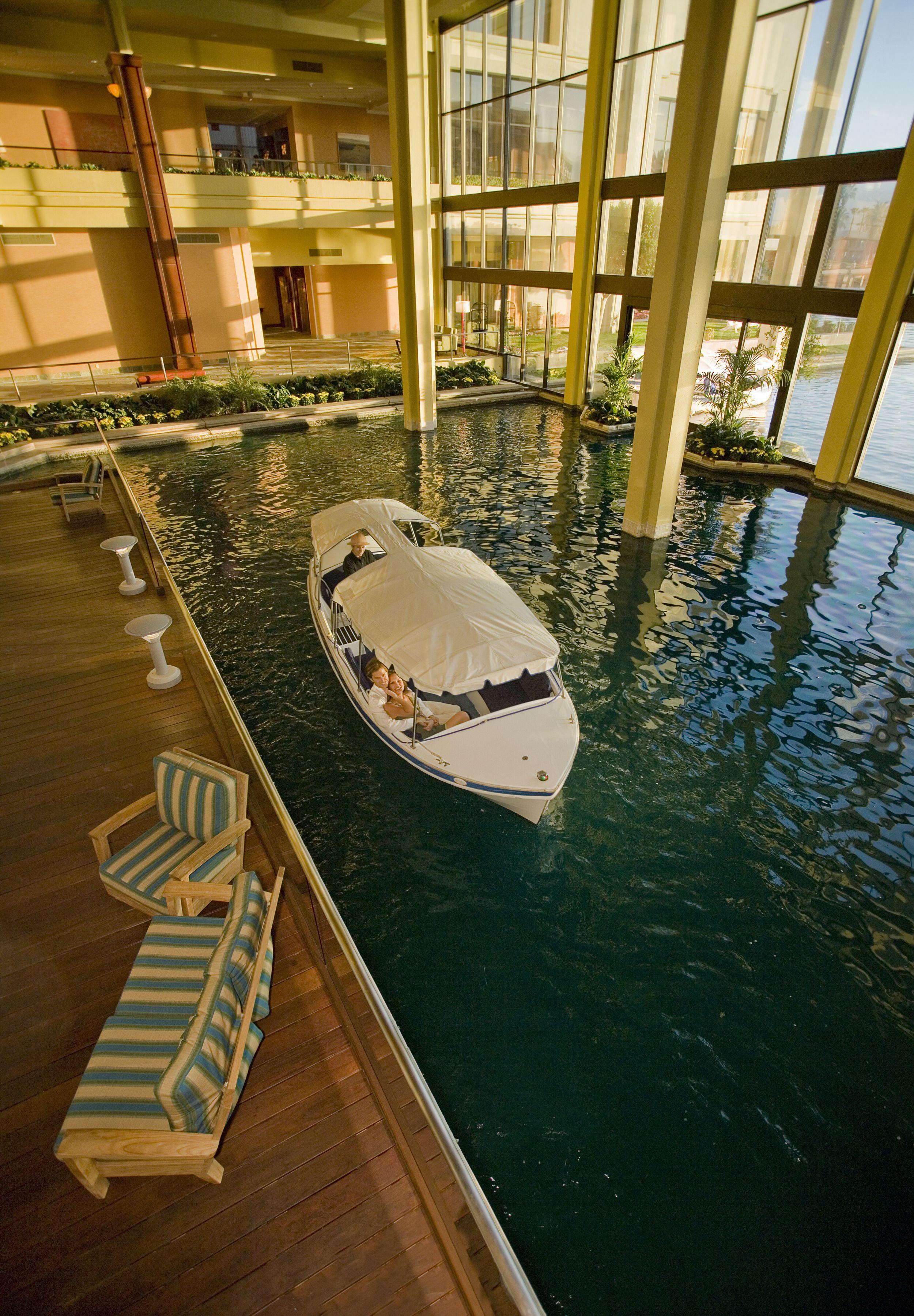 Boat dock - inside the Desert Springs Marriott! There was ...