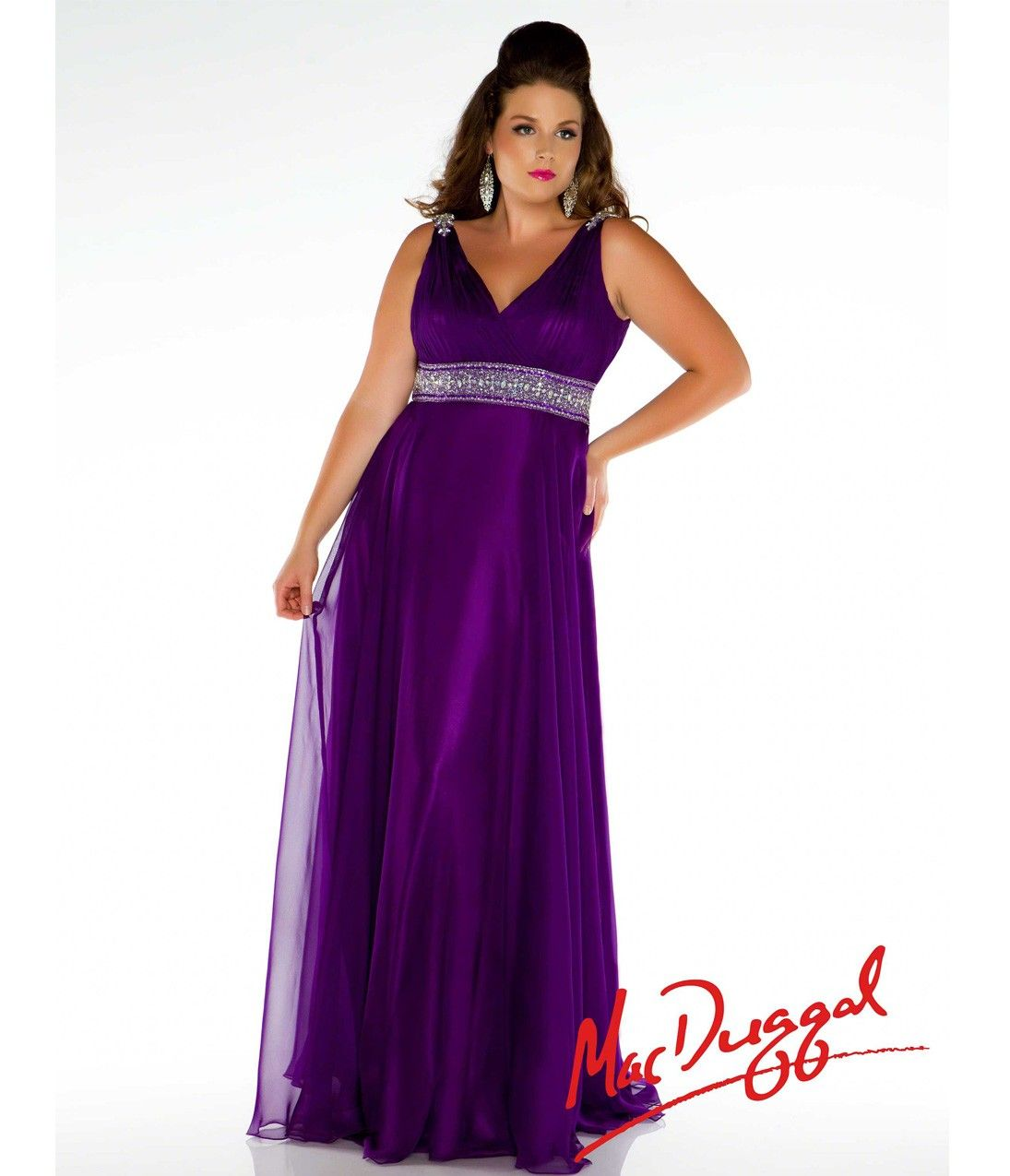 Non Traditional Purple Wedding Dress For Plus Sizes