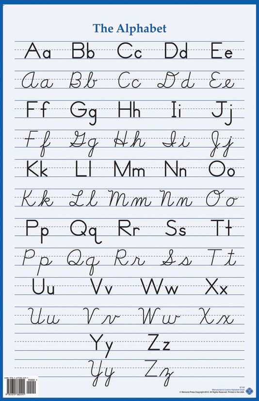 A To Z Cursive Letters View Lowercase And Uppercase Cursive
