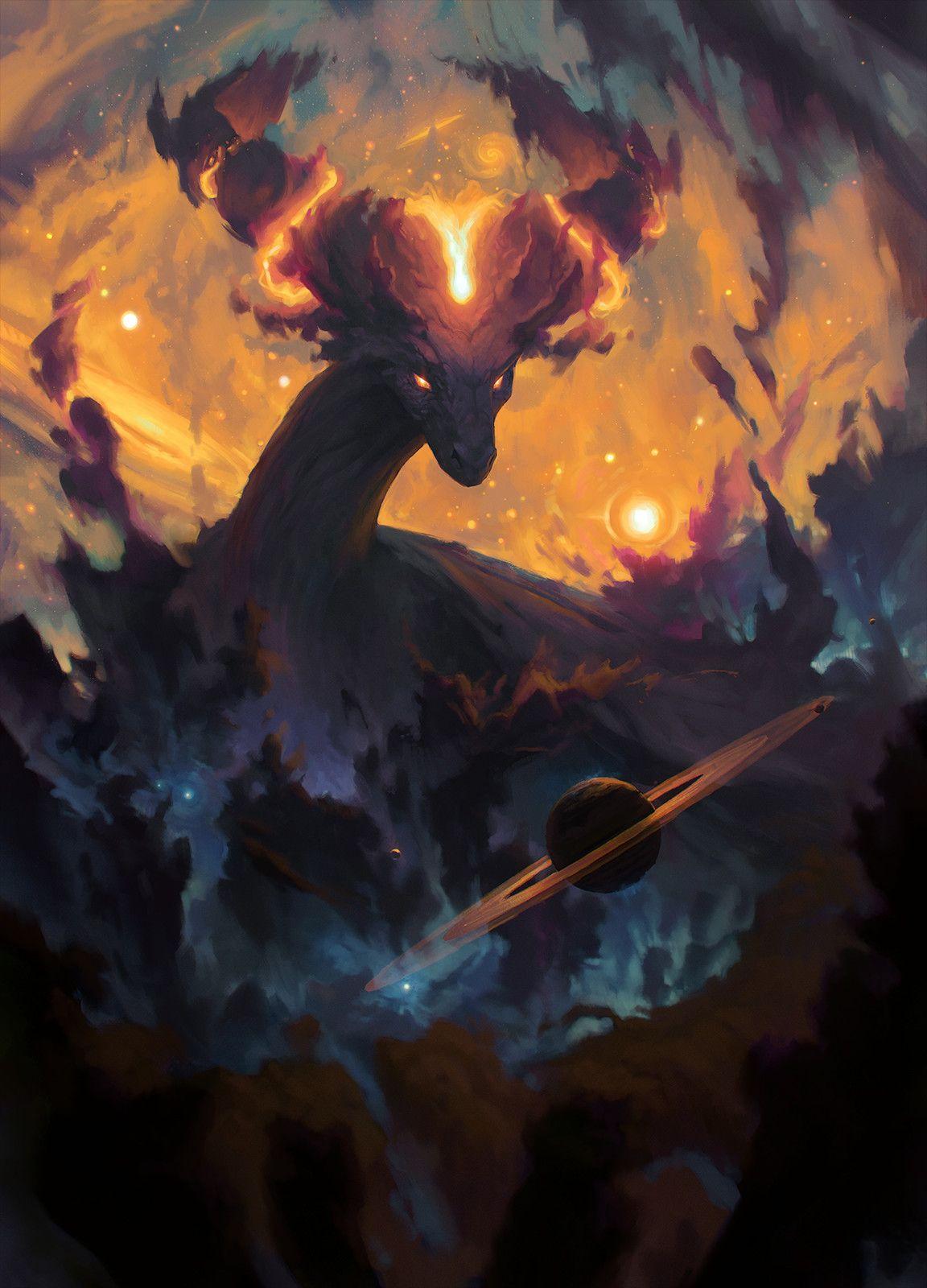 ArtStation The Cosmic Dragon, Ondřej Hrdina in 2020