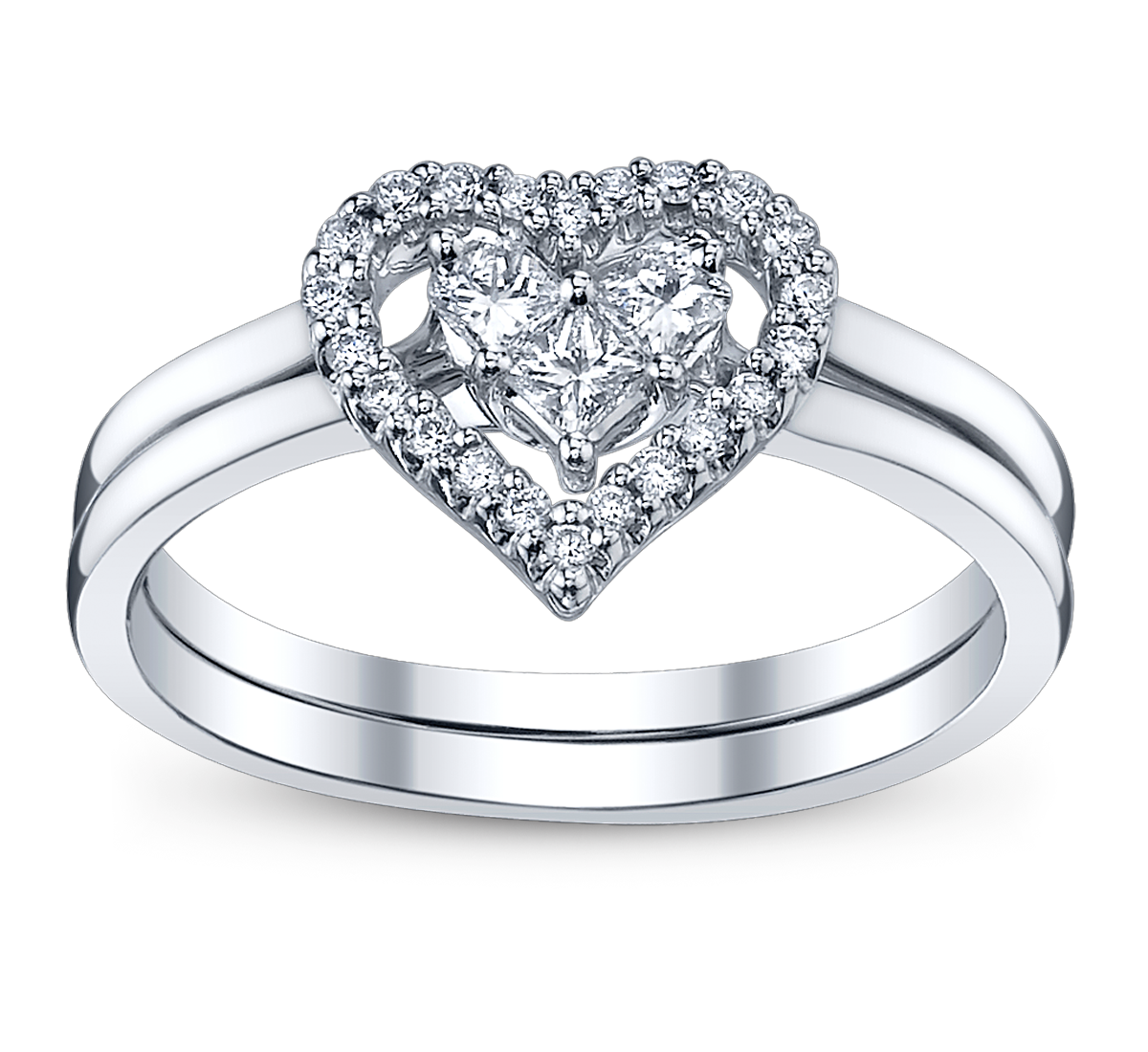 4 perfect heart bow diamond engagement rings for the holidays 4 perfect heart bow diamond engagement rings for the holidays junglespirit Choice Image