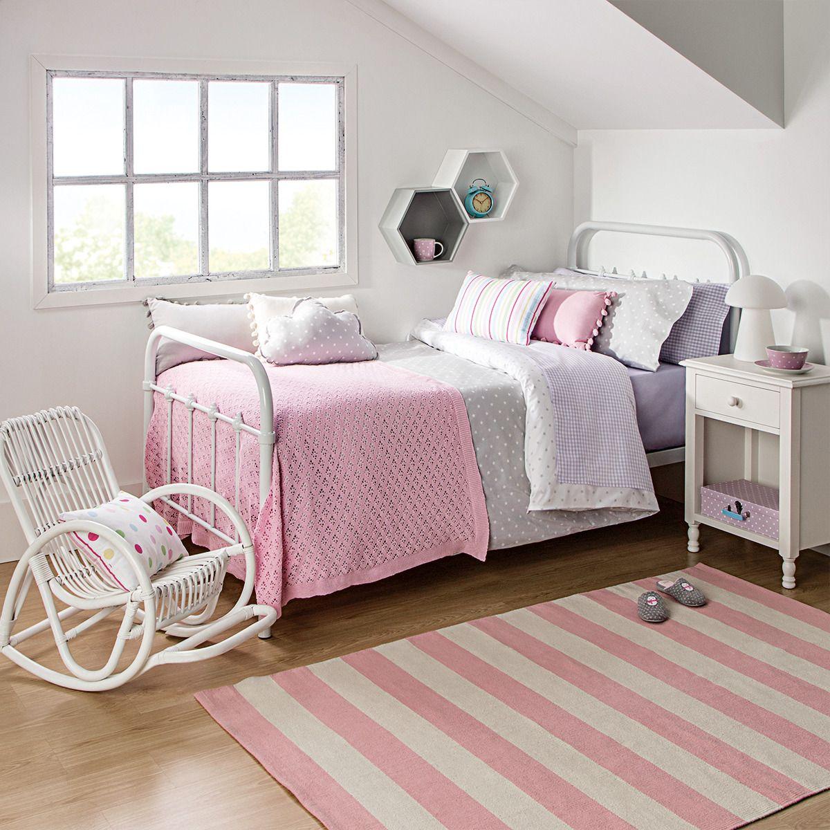 Cama individual de metal coraline mini home camas for Dormitorios infantiles el corte ingles