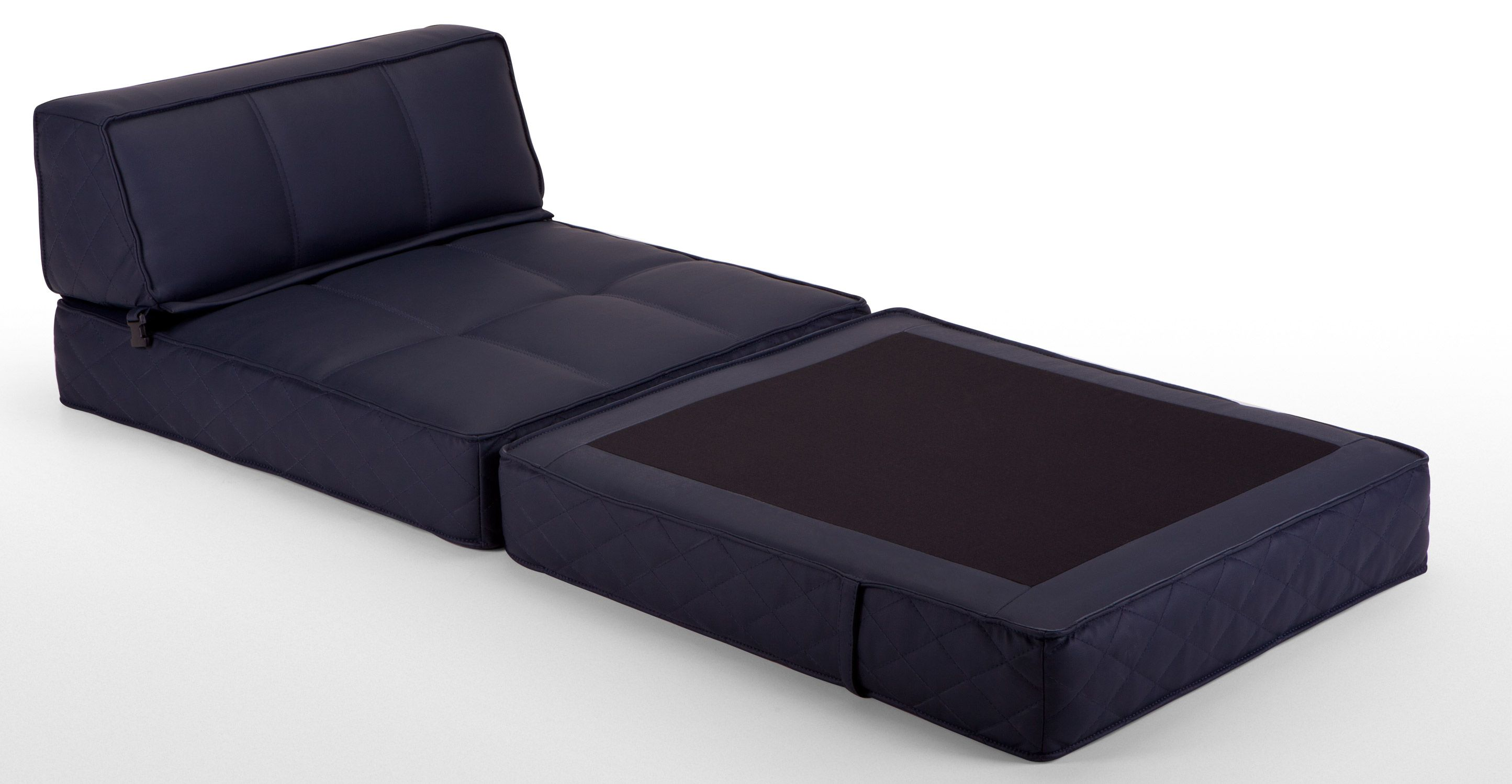 Illustration of Chair That Turns Into Bed Furniture