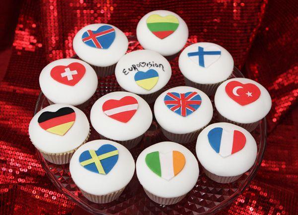 Eurovision Cupcakes Party Birthday Parties Cupcakes