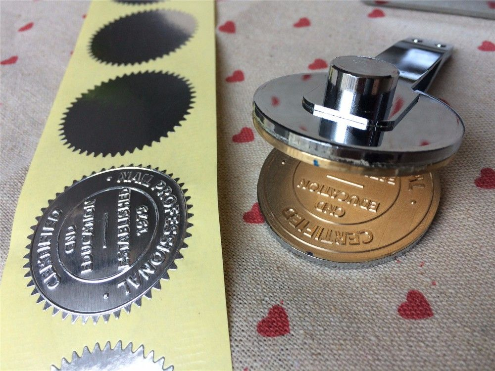 Awesome custom logo embossing stamp embossing stamp