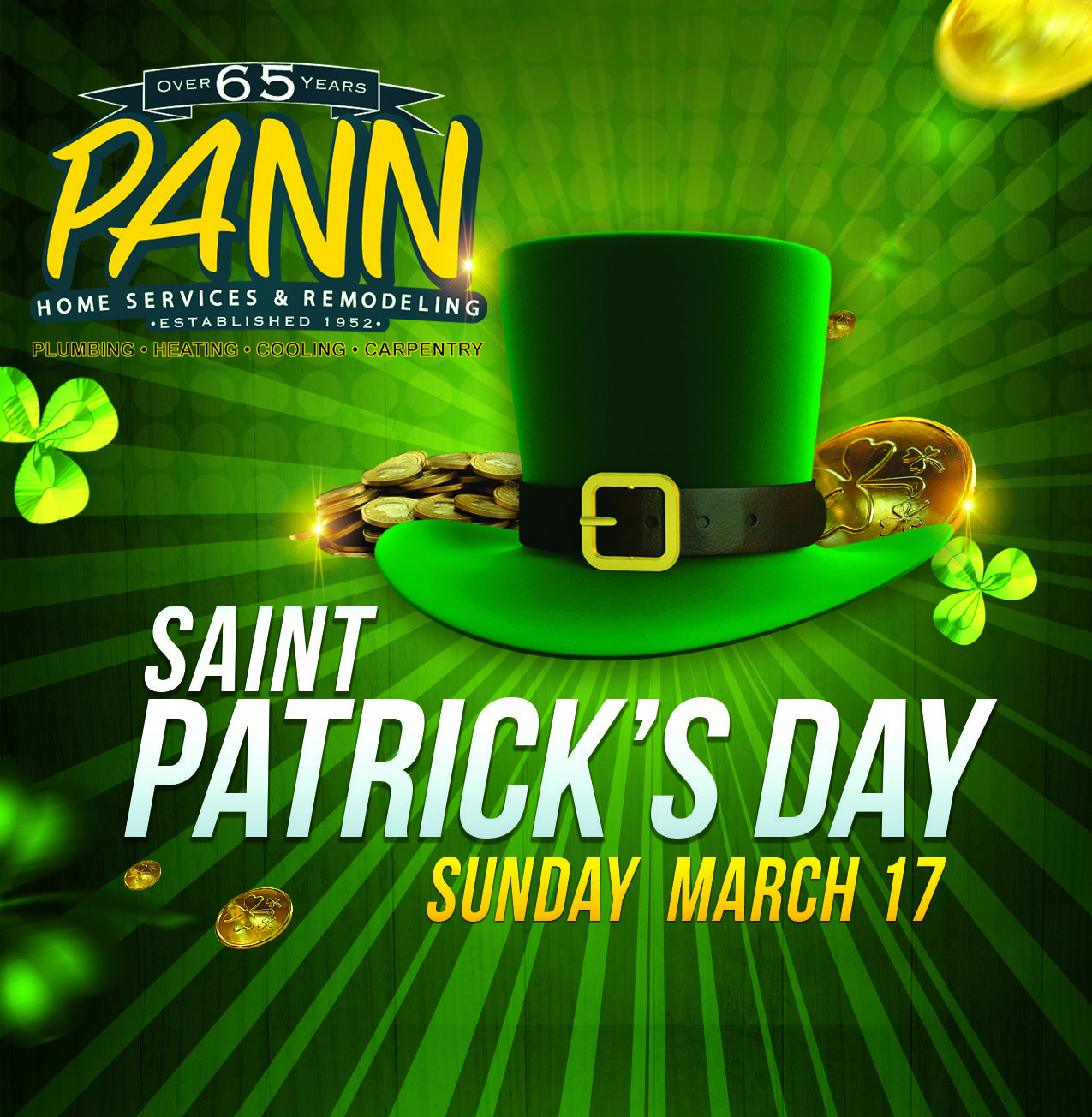 Pann Home Services Wishes You And Your Family A Happy St