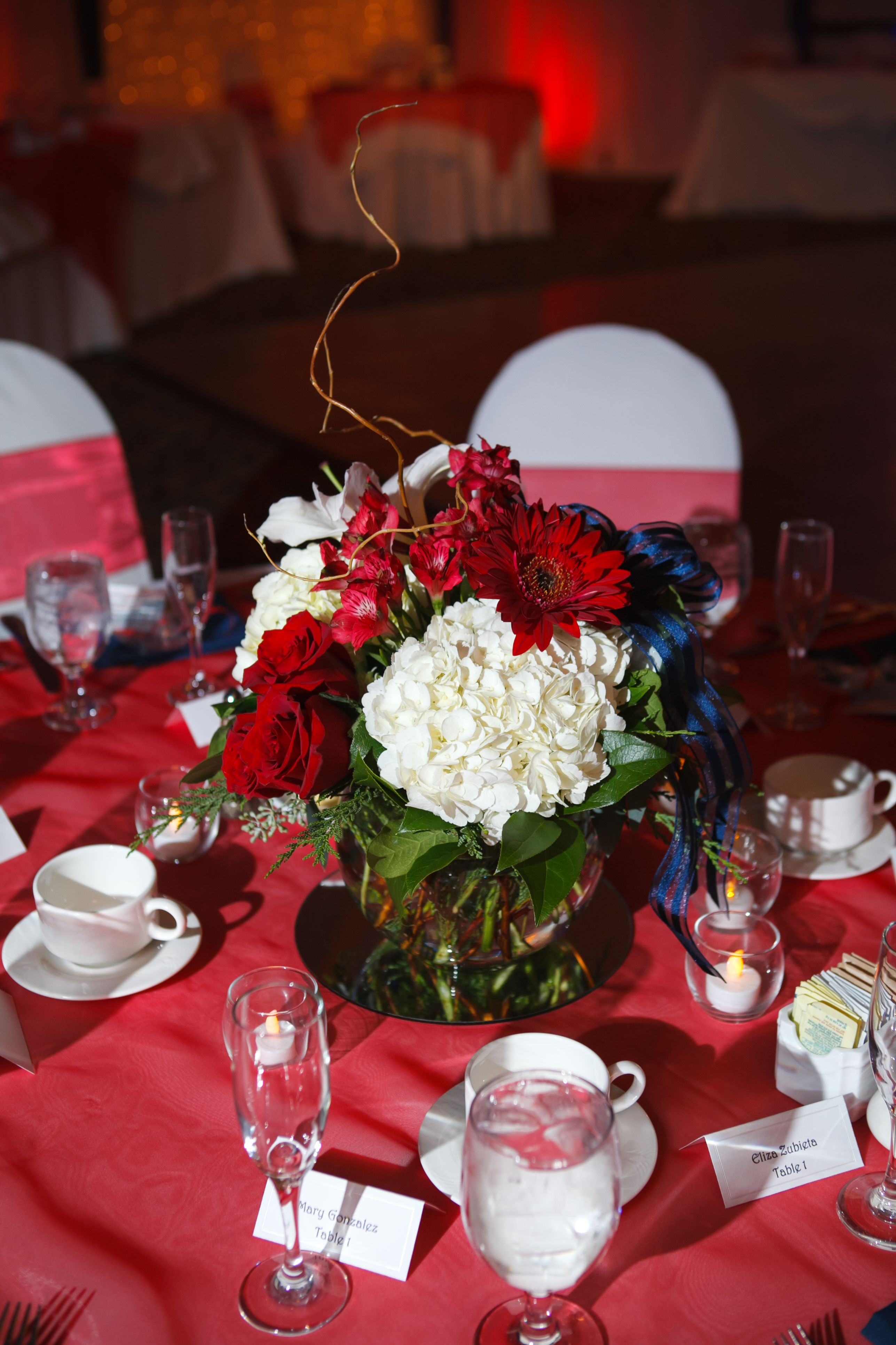 Beautiful Centerpieces For Tables At Reception Color Scheme Was Red