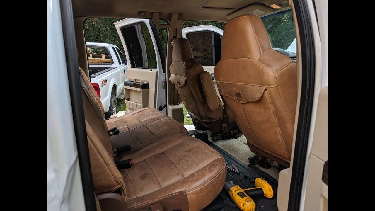 F250 Ford Cummins Swap upgraded King Ranch Seats and new