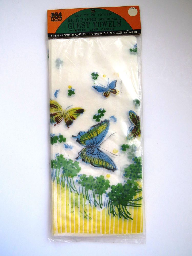 Butterfly Guest Towels Rice Paper Disposable Hand Towels