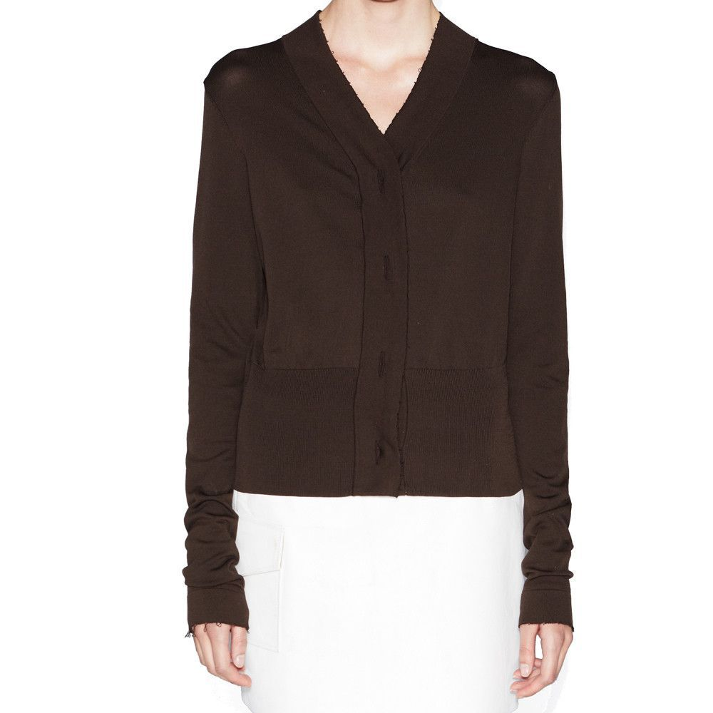 Acne Studios Britt Dark Brown Cardigan | Products | Pinterest ...