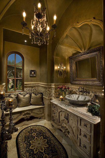 Tuscan Style Grand Master Bathroom