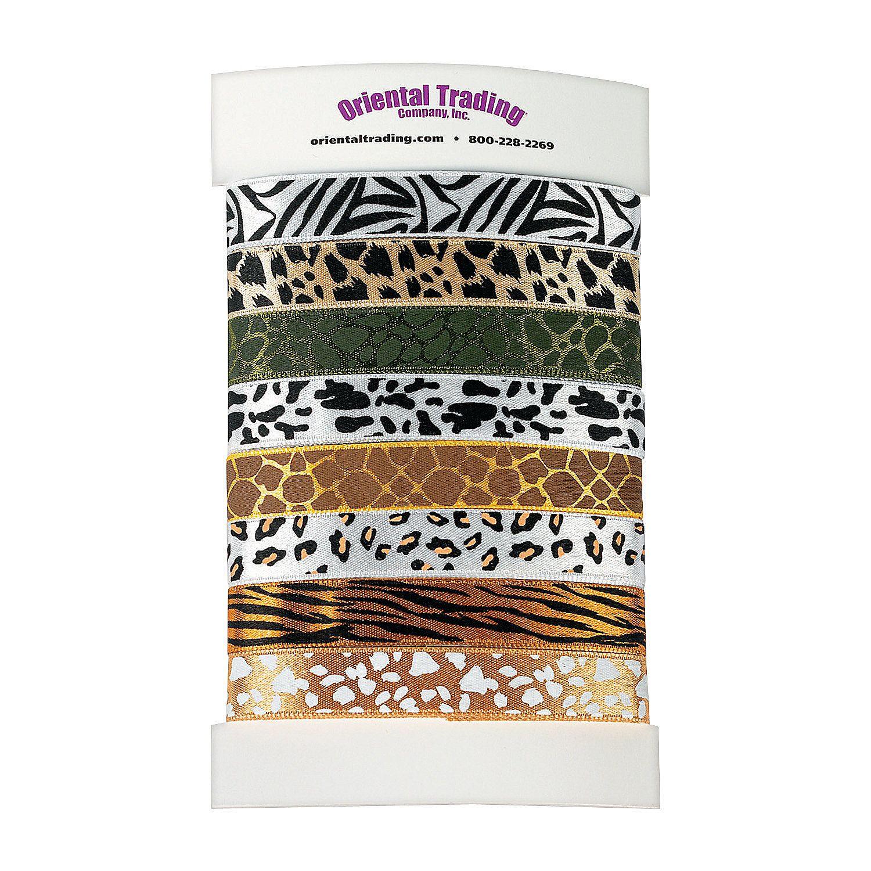 Animal Print Ribbons  OrientalTradingcom  Animal Print Ribbons