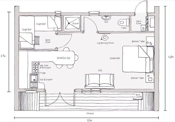 Attrayant Blue Forest Eco Perch Treehouse Tiny Cabin 007 Simple Living In A 494 Sq.
