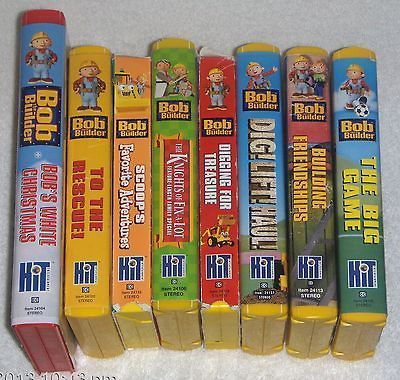 Lot of 8 BOB THE BUILDER Vhs Childrens Video Tapes Hit ...