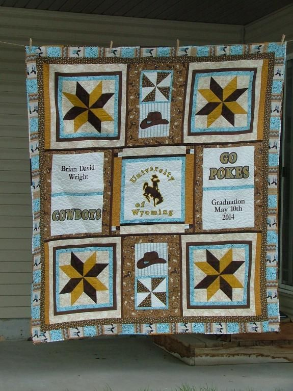 Go Team! 7 College Quilts and Blocks | Shirt quilts, Craft and Afghans : college quilt patterns - Adamdwight.com