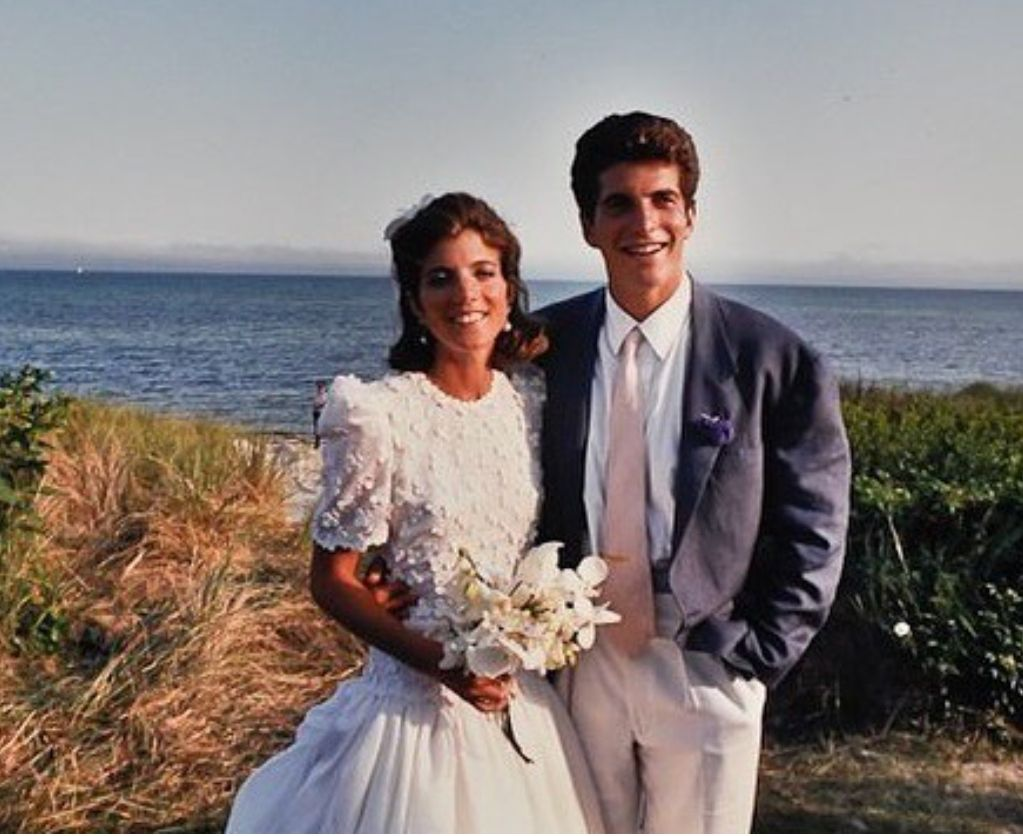1bc30ee1fe6 Caroline Kennedy with her brother John at her wedding to Edwin Schlossberg  1996