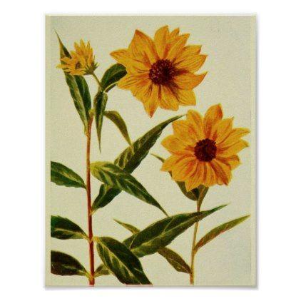 #customize - #Wild Sunflowers Poster