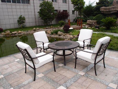 versailles 5pc firepit set garden yard outdoors pinterest rh pinterest com