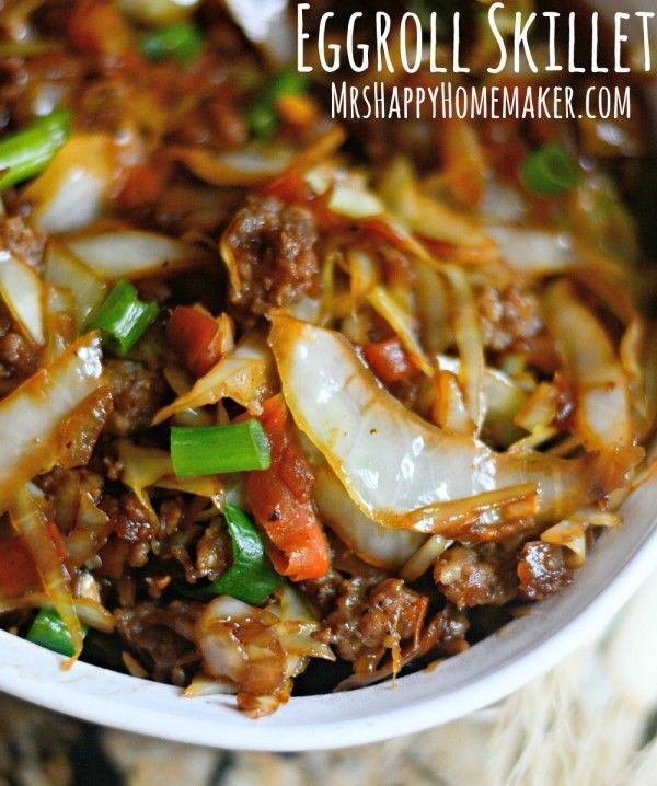 Egg Roll Skillet - Mrs Happy Homemaker